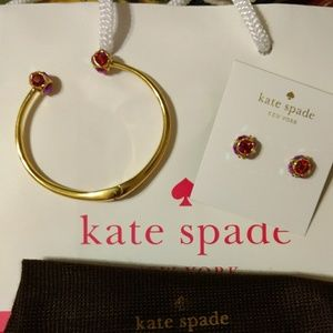 Kate Spade Gold Bracelet & Earring Set